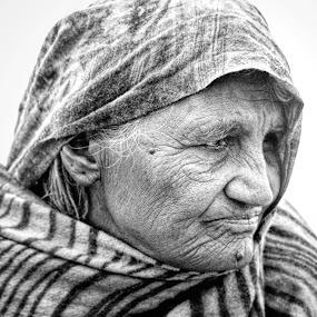 by Nj Javed - People Portraits of Women ( , woman, b&w, portrait, person )