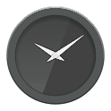 Glass clock widget B -Me Clock icon