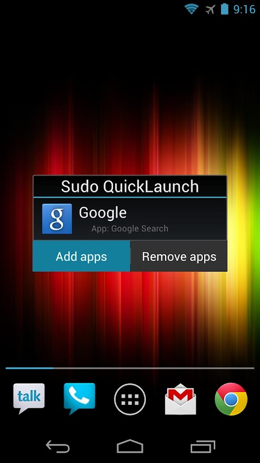 Sudo QuickLaunch- screenshot