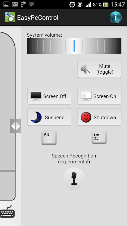 Easy PC Control- screenshot