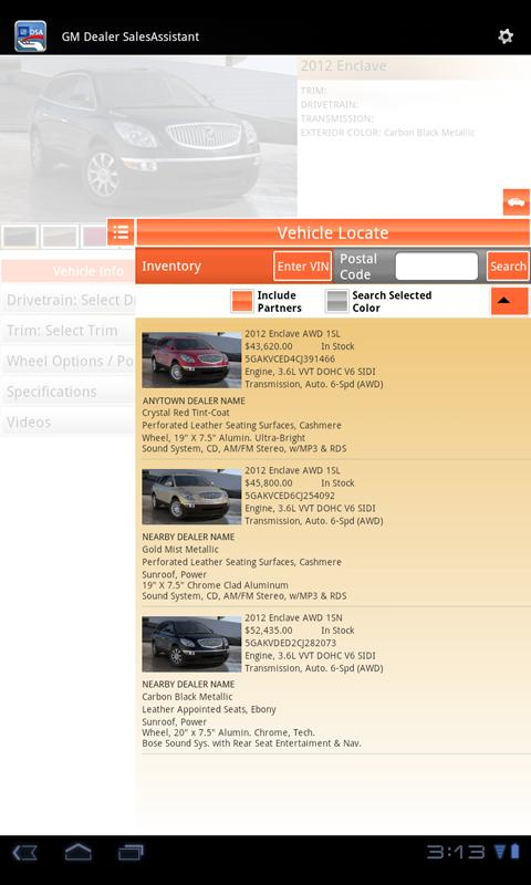 GM Dealer SalesAssistant - screenshot