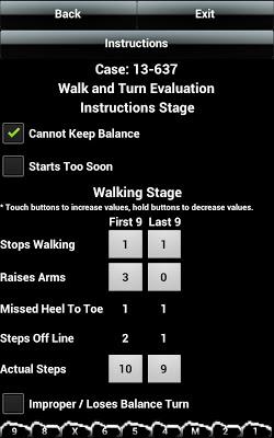 DUI SFST Pocket Guide Free - screenshot
