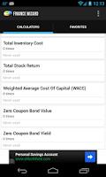 Screenshot of Finance Wizard Pro