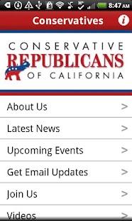 Conservative Republicans of CA- screenshot thumbnail
