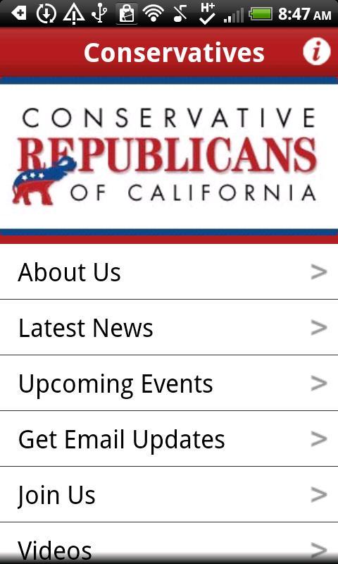 Conservative Republicans of CA- screenshot
