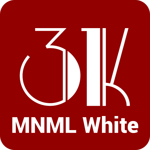 MNML White - Icon Pack
