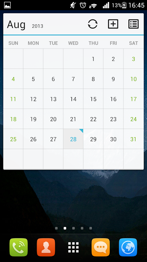 GO Calendar+- screenshot