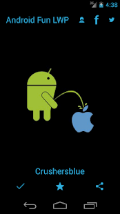 Android Peeing Apple LWP - screenshot thumbnail