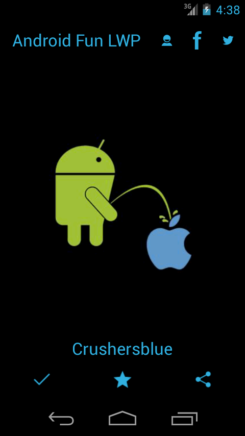 Android Peeing Apple LWP - screenshot