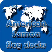 American Samoa flag clocks