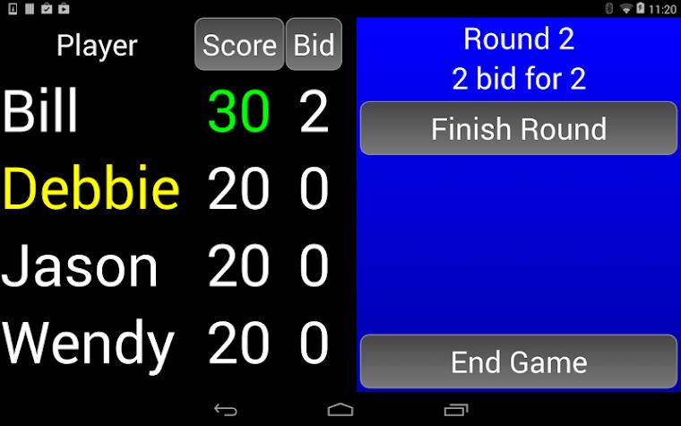 WIZARD Score Pad Screenshot