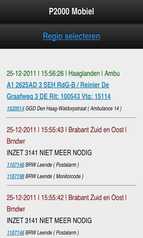 112 Meldingen (P2000) - screenshot