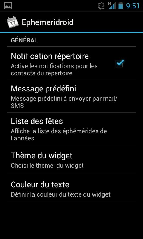 Ephemeridroid 2 (fête du jour) - screenshot