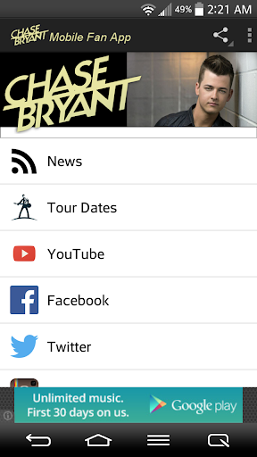Chase Bryant Fans Mobile  screenshots 1