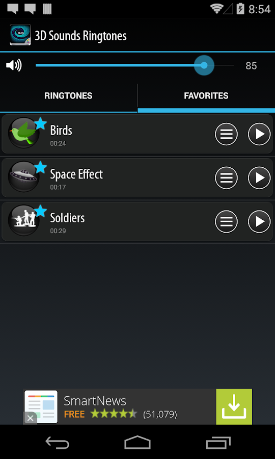 3D Sounds Ringtones- screenshot