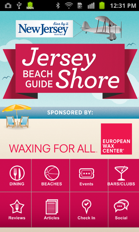 Jersey Shore Beach Guide - screenshot