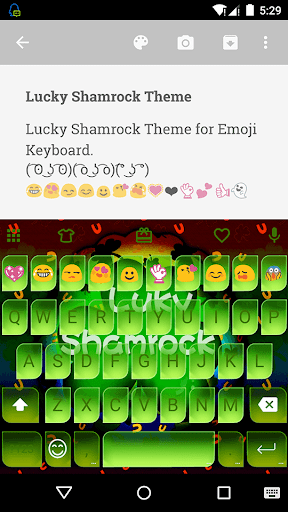 Lucky Shamrock Emoji Keyboard