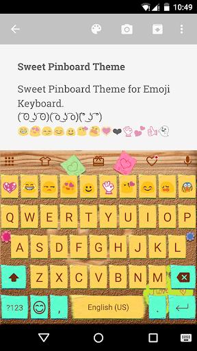 Sweet Pinboard Emoji Keyboard