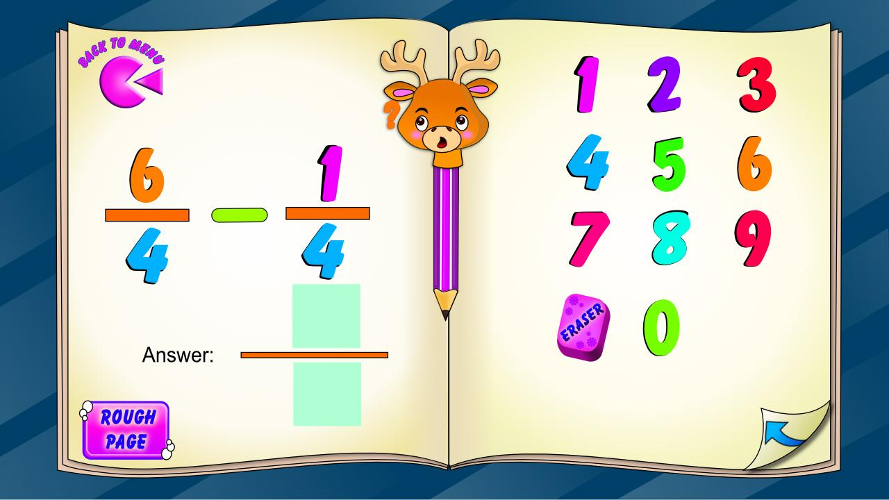 Fraction Subtraction- screenshot