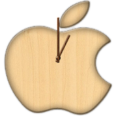 Apple Wood Clock Widget(FREE)