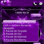 Valentines Purple GO SMS Theme