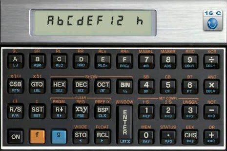 HC-16C Programmer's Calculator - screenshot thumbnail