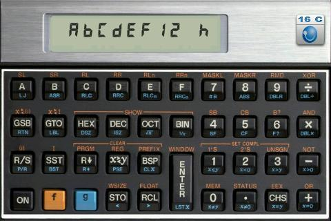 HC-16C Programmer's Calculator - screenshot