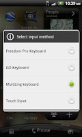 Screenshot of Select Input Method Pro