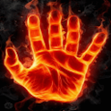 Hand of Fire Live Wallpaper