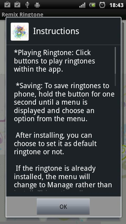 Remix Ringtone - screenshot