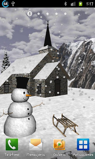 Winter In Chamonix 3D LWP FREE