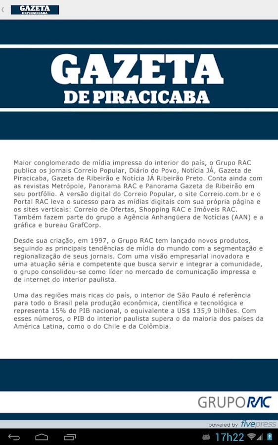 Gazeta de Piracicaba- screenshot