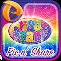 Lisa Frank Pic n' Share logo