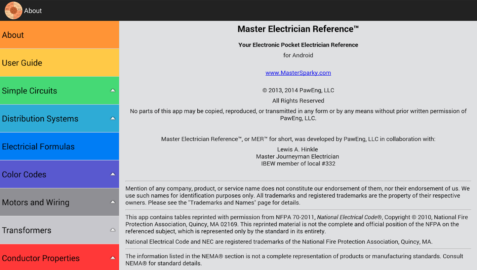 master electrician reference android apps on google play