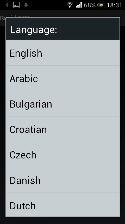 Rapid OCR(Android ScanToText)- screenshot