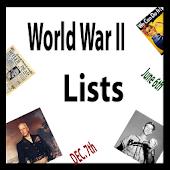 History Lists (World War II)