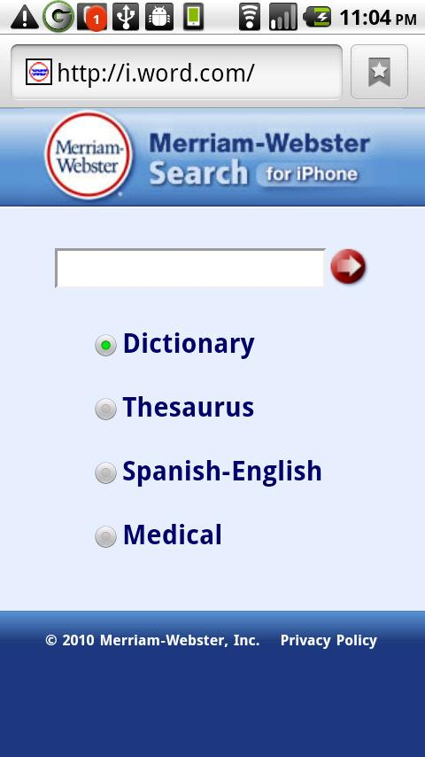 Web Dictionaries !! - screenshot