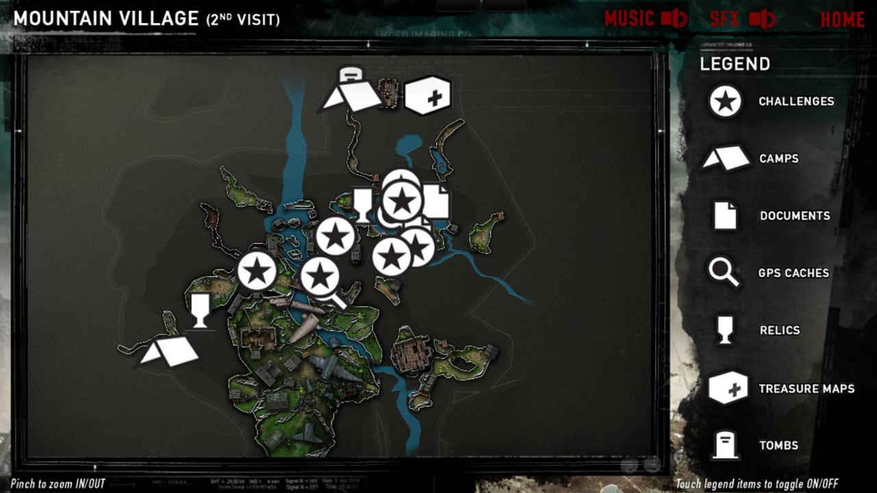 Official Tomb Raider™ Map App - screenshot
