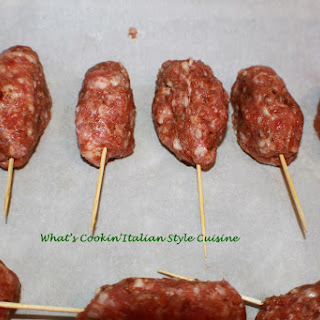 Mom's Homemade Italian Sausage Skewer.