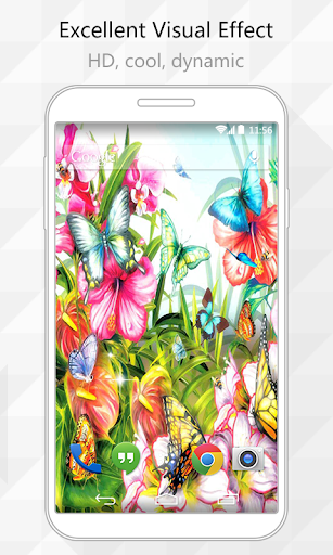 Vivid Flowers Live Wallpaper