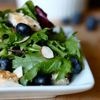 Grilled Chicken and Blueberry Salad.