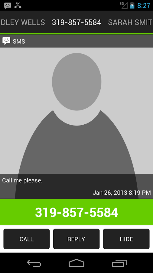 Missed Call / SMS Reminder Pro - screenshot