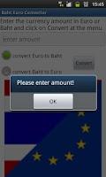 Screenshot of Euro Baht Converter