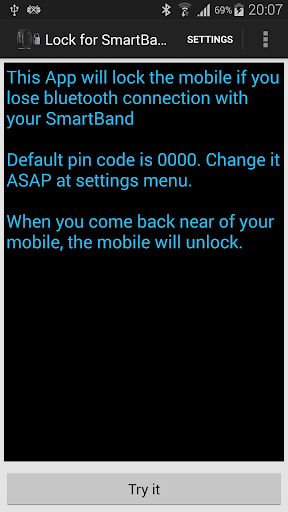 Lock for SmartBand SWR10