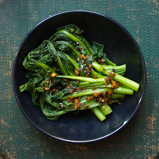 Asian Greens with Garlic Sauce.