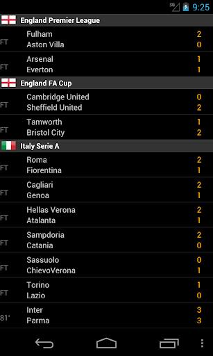 Soccer LiveScores 5.0 screenshots 2