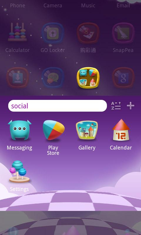 Magic World GO Launcher Theme- screenshot