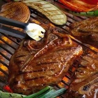 Barbecued Pork Steaks.