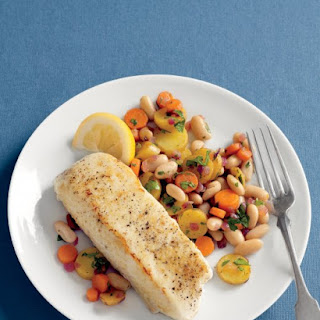 Halibut with Warm Bean Hash