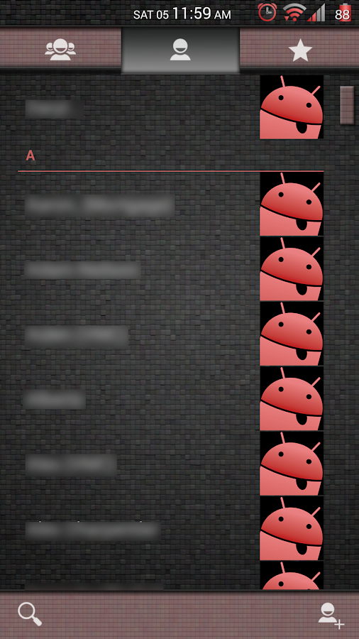 Mosaic Tile Red CM11 Theme- screenshot